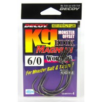 Worm 26 Kg Hook Magnum 8/0, 3 шт крючок Decoy