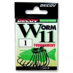 Worm 11 Tournament 1/0, 9шт крючок Decoy - Фото