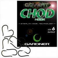 Covert Chod Hooks Barbed 4 10шт крючок Gardner