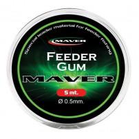 Feeder Gum 5m, диам. 0,5мм резина Maver