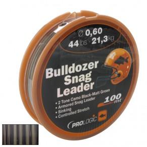 Bulldozer Snag Leader 100m 32lbs 15.6kg 0.50mm Camo шоклидер Prologic - Фото