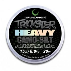 Trickster Heavy Camo Silt 15lb (6.8kg) поводочный материал Gardner - Фото
