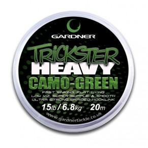 Trickster Heavy Camo Green 25lb (6.8kg) поводочный материал Gardner - Фото