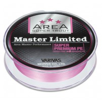 New Super Trout Area Master Ltd. PE Pink 75m #0,15 шнур Varivas
