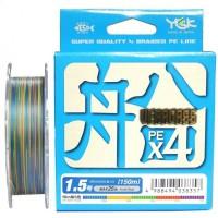 Veragass PE x4 150m #0.8/14lb шнур плетеный YGK