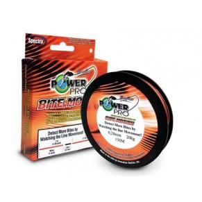 PP 0.23mm 15kg 150m оранжево-чорний шнур Power Pro - Фото