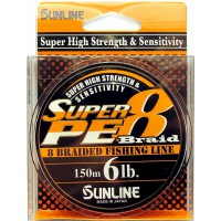 Super PE 8 Braid 150м 0.128мм 6Lb/3кг шнур Sunline
