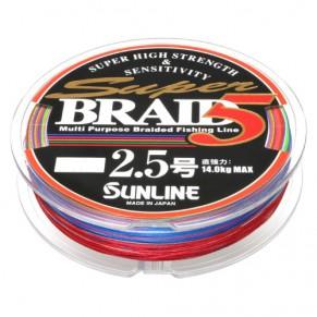 Super Braid 5 150m #2.5/0.25мм 14кг шнур Sunline - Фото