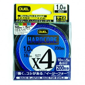 HARDCORE X4 200m #0.6 Color шнур YoZuri - Фото