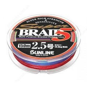 Super Braid 5 150m #2.0/0.225мм 11.6кг шнур Sunline - Фото
