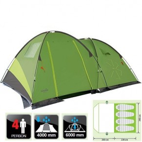 Pollan 4 палатка 4-х местная Norfin - Фото