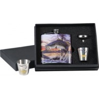 Bass Flask w/shot glasses (фляга и 2 рюмки) набор Riversedge