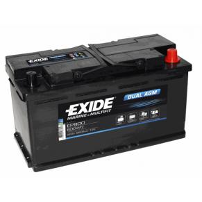 Dual AGM EP 800 92Ач аккумулятор Exide - Фото